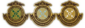 Three different generation pins for St Mary's College alumni